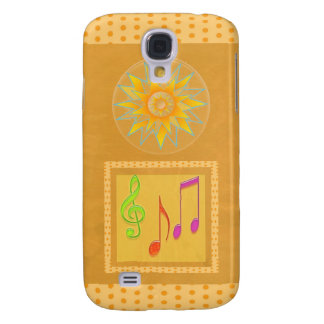 Dancing Music Symbols on GOLD Foil Galaxy S4 Cases