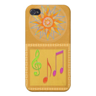 Dancing Music Symbols on GOLD Foil iPhone 4/4S Case