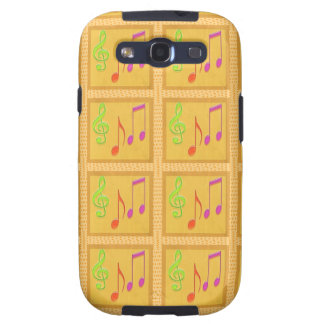 Dancing Musical Symbols Galaxy S3 Covers