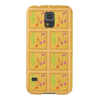 Dancing Musical Symbols Galaxy S5 Covers