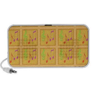 Dancing Musical Symbols Mini Speakers