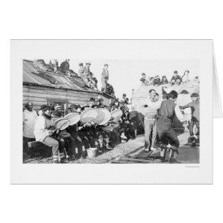 Dancing Nome Alaska 1910 Greeting Card