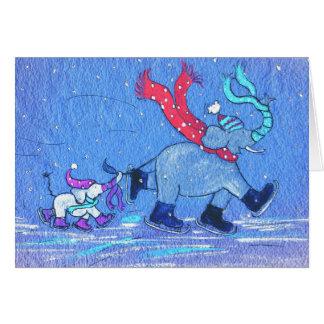 Dancing on Ice Greeting Card