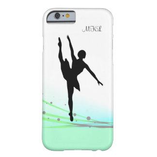 Dancing on Light Ballet Ballerina Custom on Aqua Barely There iPhone 6 Case