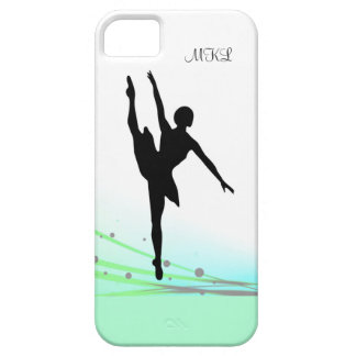 Dancing on Light Ballet Ballerina Silhouette Aqua iPhone 5 Covers