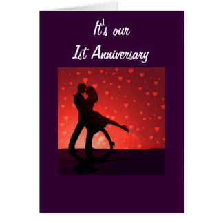 DANCING ON OUR 1st ANNIVERSARY Greeting Card
