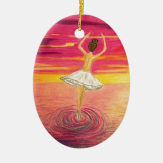 Dancing on water christmas ornament