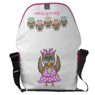 Dancing Owls Bag Messenger Bag