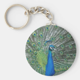 Dancing Peacock Key Ring