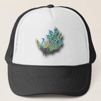 Dancing Peacock Trucker Hat