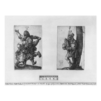 Dancing Peasants and a Bagpipe Player 1514 Post Cards