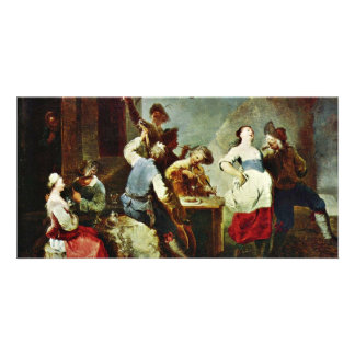 Dancing Peasants By Zick Januarius (Best Quality) Customized Photo Card