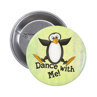 Dancing Penguin 6 Cm Round Badge