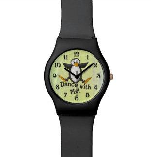 Dancing Penguin Wrist Watch