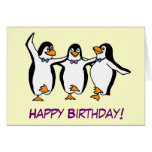 Dancing Penguins Birthday Card
