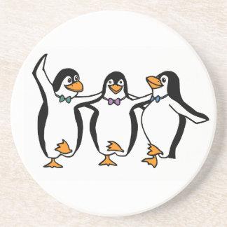 Dancing Penguins Drink Coaster