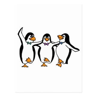 Dancing Penguins Postcard