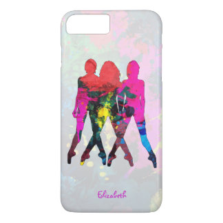 Dancing People Abstract Colors iPhone 7+ Case
