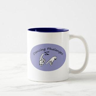 Dancing Phalanges Two-Tone Coffee Mug