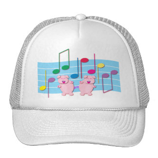 Dancing Piglets:  We love music Hat