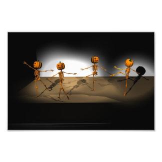 Dancing Pumpkins Photo Print