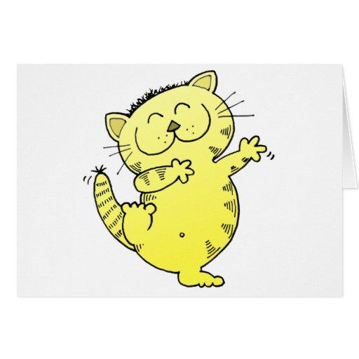 Dancing Queen Kitten Card