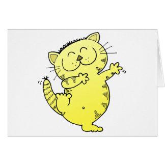 Dancing Queen Kitten Greeting Card