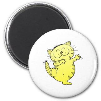 Dancing Queen Kitten 6 Cm Round Magnet