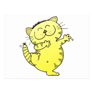 Dancing Queen Kitten Postcard