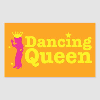 Dancing Queen Rectangular Sticker