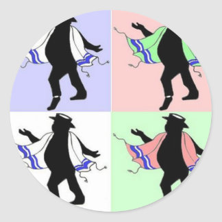 Dancing Rabbi Andy Warhol Style Stickers