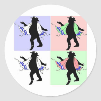 Dancing Rabbi Andy Warhol Style Sticker