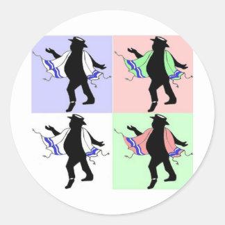 Dancing Rabbi Style Sticker