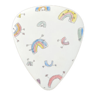 Dancing rainbows polycarbonate guitar pick