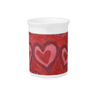 Dancing Red Hearts Drink Pitcher