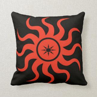 Dancing Red Sun Throw Cushion