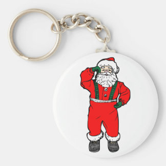 Dancing Santa Claus Keychains