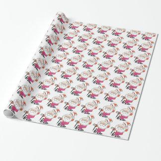 Dancing Santas Wrapping Paper