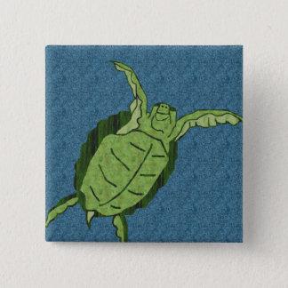 Dancing sea turtle button