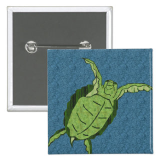 Dancing sea turtle button