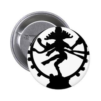 Dancing Shiva 6 Cm Round Badge