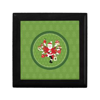 Dancing Shiva Claus Small Square Gift Box