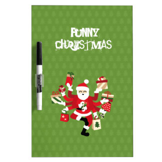 Dancing Shiva Claus - Spruce Forest Dry Erase Board