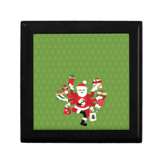 Dancing Shiva Claus - Spruce Forest Small Square Gift Box
