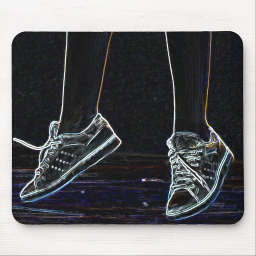 dancing shoe jump mousepad
