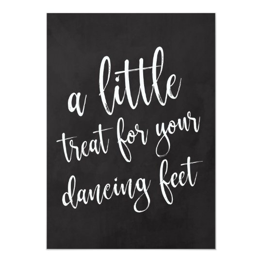Dancing Shoes Affordable Chalkboard Wedding Sign Card