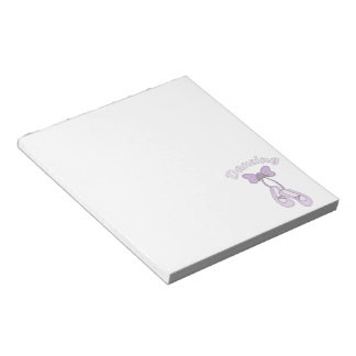 Dancing Shoes-ballet slippers Notepad