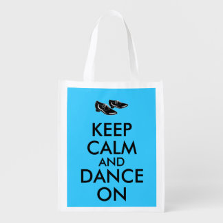 Dancing Shoes Customizable Keep Calm and Dance On Reusable Grocery Bag