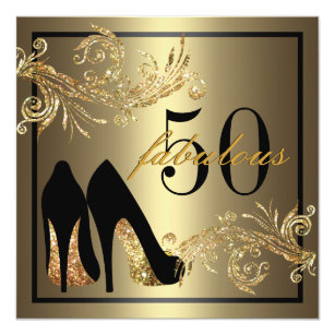 50th birthday invitations announcements zazzle uk dancing shoes fabulous 50th birthday invitation filmwisefo