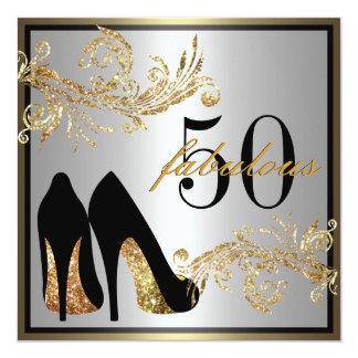 Dancing Shoes - Fabulous 50th Birthday Invitation